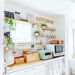 カフェ風インテリア/カフェ風/インテリア/キッチンインテリア/壁面インテリア/壁面ディスプレイ/... *お気に入りのキッチン*