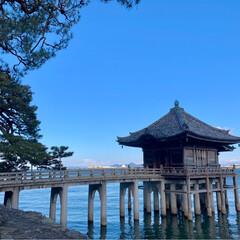ドライブ/冬/風景 お友達デート第2弾 琵琶湖に浮かぶ浮御堂…