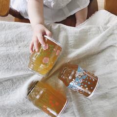 インテリア/グラス/昭和レトロ/レトログラス/ひやしあめ/おしゃれ レトロなグラスが可愛いひやしあめ 娘はピ…