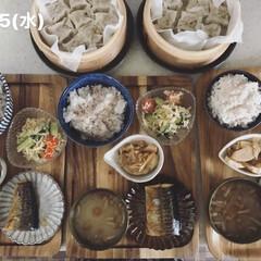 息子飯/男子ごはん/おうちごはん/お昼ごはん/キッチン 今日の昼ごはん! ・雑穀ごはん ・焼売(…