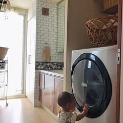 脱衣所/洗面所/かご/ドラム式洗濯機/洗濯機/古道具/... 昔の銭湯の脱衣籠🧺 味があってとても良い…