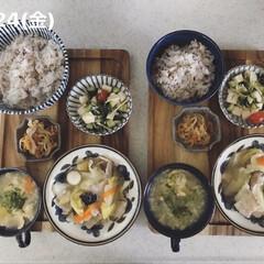 料理/キッチン/お昼ごはん/男子ごはん/息子飯/おうちごはん 今日の昼ごはん! ・雑穀ごはん ・八宝菜…