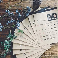 2019年カレンダー/手作り/カレンダー/あけおめ 友人の2019年の手作りカレンダー!パソ…