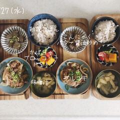 息子飯/昼ごはん/昼食/キッチン/おうちごはん/ランチ/... 今日の昼ごはん! ・雑穀ごはん ・プルコ…