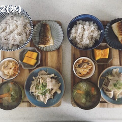 おうちごはん/お昼ごはん/男子ごはん/息子飯/キッチン 今日の昼ごはん! ・雑穀ごはん ・味噌汁…