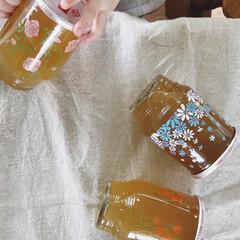 インテリア/グラス/昭和レトロ/レトログラス/ひやしあめ/おしゃれ レトロなグラスが可愛いひやしあめ 娘はピ…(2枚目)