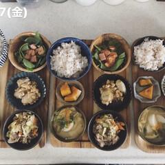 息子飯/男子ごはん/お昼ごはん/おうちごはん/キッチン 今日の昼ごはん! ・雑穀ごはん ・かぼち…
