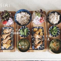 息子飯/昼ごはん/昼食/キッチン/おうちごはん/ランチ/... 今日の昼ごはん! ・雑穀ごはん ・とり手…