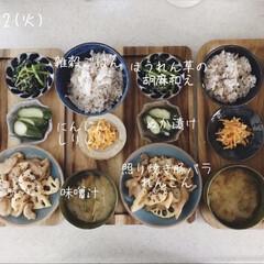 昼食/息子飯/昼ごはん/キッチン/おうちごはん/ランチ 今日の昼ごはん! ・雑穀ごはん ・照り焼…