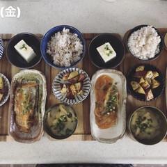 キッチン/昼ごはん/息子飯/男子ごはん/おうちごはん/ランチ 今日の昼ごはん! ・雑穀ごはん ・大学芋…
