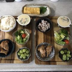 おうちごはん/お昼ごはん/キッチン/息子飯 今日のお昼ごはん。 小6と小4の息子2人…