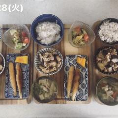 料理/キッチン/お昼ごはん/男子ごはん/息子飯/おうちごはん 今日の昼ごはん! ・雑穀ごはん ・ししゃ…