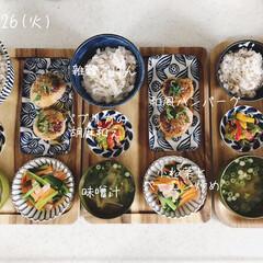 キッチン/昼食/昼ごはん/息子飯/おうちごはん/ランチ/... 今日の昼ごはん! ・雑穀ごはん ・和風ハ…
