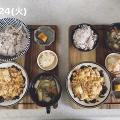 お昼ごはん/息子飯/おうちごはん/キッチン 今日の息子2人の昼ごはん! ・雑穀ごはん…