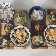 息子飯/男子ごはん/お昼ごはん/おうちごはん/キッチン 今日の昼ごはん! ・雑穀ごはん ・切干大…