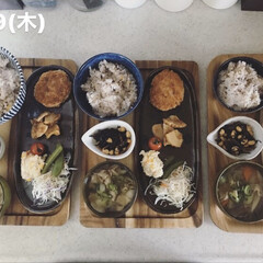 息子飯/男子ごはん/おうちごはん/お昼ごはん/キッチン 今日の昼ごはん ・雑穀ごはん ・メンチカ…
