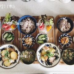 息子飯/昼ごはん/昼食/キッチン/おうちごはん/ランチ/... 今日の昼ごはん! ・雑穀ごはん ・じゃが…