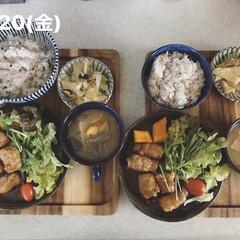 お昼ごはん/息子飯/おうちごはん/キッチン 今日の息子2人昼ごはん! ・雑穀ごはん …(1枚目)