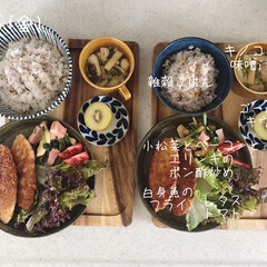 キッチン/昼食/昼ごはん/息子飯/おうちごはん/ランチ/... 今日の昼ごはん! ・雑穀ごはん ・白身魚…