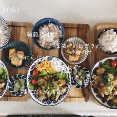 昼ごはん/息子飯/昼食/おうちごはん/ランチ 今日の昼ごはん! ・雑穀ごはん ・揚げだ…
