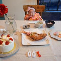 祝い膳/100日祝い/お食い初め/暮らし 昨日は娘の100日お祝いをしました! 3…