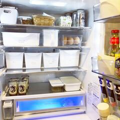 冷蔵庫/収納/セリア/ダイソー/カトレケース/コジオル風/... 我が家の冷蔵庫は、セリアやダイソーのケー…