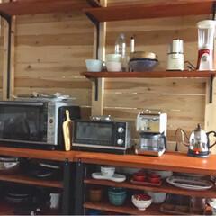 賃貸インテリア/オープン収納/キッチン雑貨/収納/キッチン/雑貨/... キッチン背面をカスタマイズ⚒ やっとすっ…(2枚目)