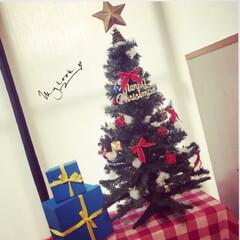 少し早めの/メリークリスマス/お洒落/年代もの/クリスマスツリー/クリスマス/... もうすぐクリスマス🎅とゆうことでツリーを…