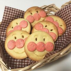 カフェ風インテリア/カフェ風/グルメ/おやつ/かわいい/手作りクッキー/... 2歳の息子に作ってあげたアンパンマンクッ…
