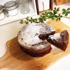 チョコレートケーキ/おやつ/手作り/焼き菓子/スイーツ/レシピ/... 大好きなガトーショコラを焼きました⸜(…