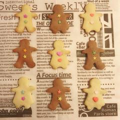美味しい/おかし作り/おやつ作り/型抜きクッキー/可愛い/クッキー カラーシュガーを使って可愛いクッキーを作…
