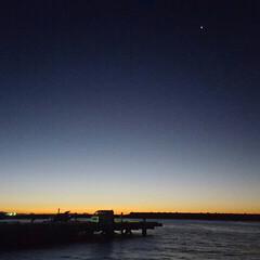 富士山/焼津港/朝陽/旅行/風景 久しぶりに 釣りに出かけました。   星…