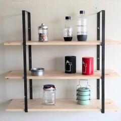アイアン/アイアン家具/ウォールシェルフ/ラック/棚/壁掛けラック/... ディスプレイや収納を楽しみながら壁面のデ…