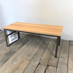 ローテーブル/テーブル/アイアン/インテリア/本棚/一人暮らし/... 幅93cm×奥行42cm×高さ36cm …