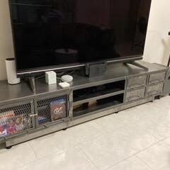 テレビボード/インテリア/テレビデッキ/TVボード/オーダー家具/オーダー製 お客様から頂いたお写真です。 全てアイア…