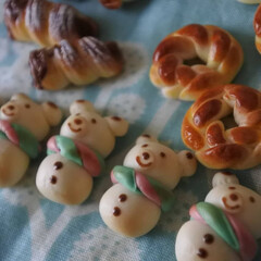 プティポッシュ/クリスマス/パン/フェイク/ミニチュアフード/ミニチュア/... * ちいさなちいさな粘土パンが焼き上がり…(2枚目)