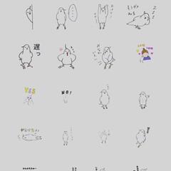 オカメインコ/ホワイトフェイス/Sticker/LINE/LINEスタンプ 第三弾LINEスタンプリリースしました🖐…