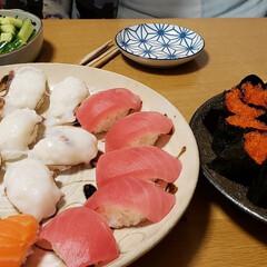 食事情 お家でお寿司、握ったよ~🤗