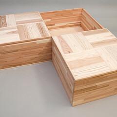 小上がり/小上がりユニット/小上がりボックス/収納/片付け/組立式/... 収納にも便利。スギ集成材を使用したカンタ…(1枚目)
