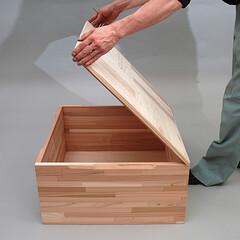 小上がり/小上がりユニット/小上がりボックス/収納/片付け/組立式/... 収納にも便利。スギ集成材を使用したカンタ…