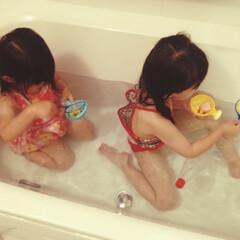 水着/プール/お風呂/おうち時間/こどもの日 おうち時間で何か楽しめないか…と、お風呂…