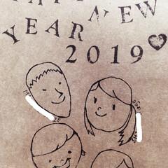 年賀状/あけおめ/フォロー大歓迎/冬/雑貨/100均/... 家族全員がダウンしてた、今年の年末…でも…