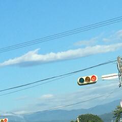 風景/雲/空 朝の空 もっと不思議な雲の形だったのだけ…