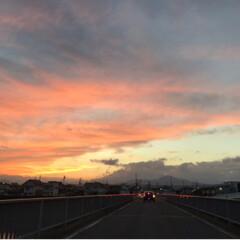 赤/夕陽 キレイだなぁー 下手な写真だけど…どれく…