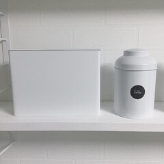 紙フィルターケース コーヒーペーパーフィルターケース タワー tower ( コーヒーペーパー用 フィルターケース フィルターホルダー ) | TOWER(その他収納、ラック)を使ったクチコミ「コーヒーをほぼ毎日飲むので、キッチンのウ…」