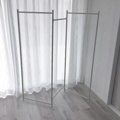 【CM-30W】 コンパクト物干し 3連タイプ | エカンズ(室内物干し)を使ったクチコミ「室内干し用スタンド  屏風型で折り畳んで…」