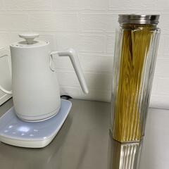 山善 電気ケトル YKG−C800−W ホワイト   山善(電気ケトル)を使ったクチコミ「パスタケース  ニトリで購入したものを使…」