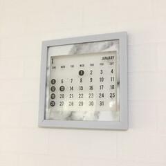 大理石/モノトーンインテリア/モノトーン雑貨/モノトーン/キャンドゥ/セリア/... 今年のカレンダー ・セリア クリアシート…