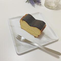 柳宗理 ヒメフォーク | 柳宗理(フォーク)を使ったクチコミ「バスクチーズケーキ  クリームチーズ 3…」
