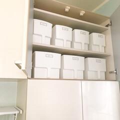 カップボード収納/カップボード/吊り戸/キッチン収納/キッチン/収納BOX/... 吊り戸収納にオススメのケース♡ 詳しくは…